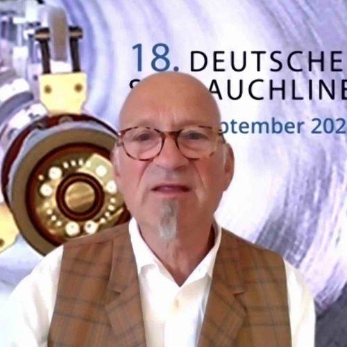 Franz Hoppe moderierte den 18. Schlauchlinertag und ist überzeugt, dass auch die nächste Veranstaltung wieder mit viel Neuem aufwarten kann. Foto: TAH