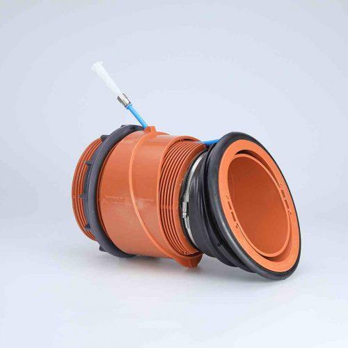 Der Funke U3-Anschluss wurde für den Anschluss von Zuleitungen unterhalb des Kämpfers bei Eiprofilen entwickelt. Foto: Funke Kunststoffe GmbH