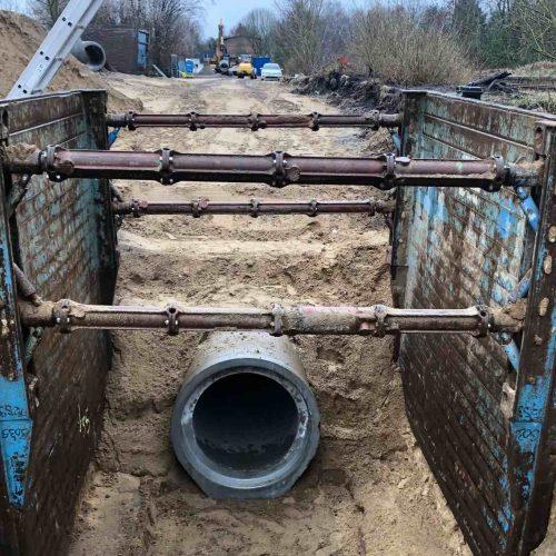 Eine der Referenzbaustellen der antragstellenden AS+BE Asphalt- und Betonstraßenbau GmbH. Foto: Güteschutz Kanalbau