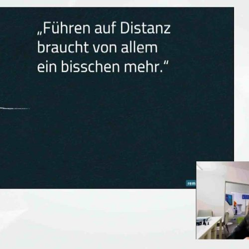 Digitale Empathie – Führen auf Distanz brauche von allem ein bisschen mehr, so Prof. Dr. Sabine Remdisch, Evalue-consult GmbH. Foto: rbv