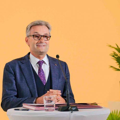 Wurde von der Versammlung im Amt des rbv-Vizepräsidenten bestätigt: Dipl.-Ing. Andreas Burger. Foto: rbv
