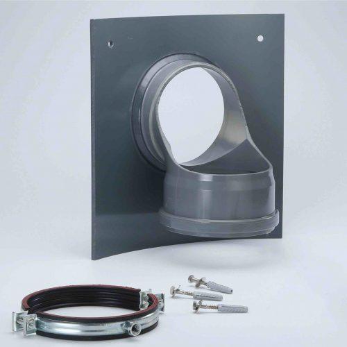 Der Innenliegende Absturz mit rückseitiger EPDM-Dichtung wurde entwickelt, um einen Höhenversatz in der Kanalisation zu überbrücken.  Foto: Funke Kunststoffe