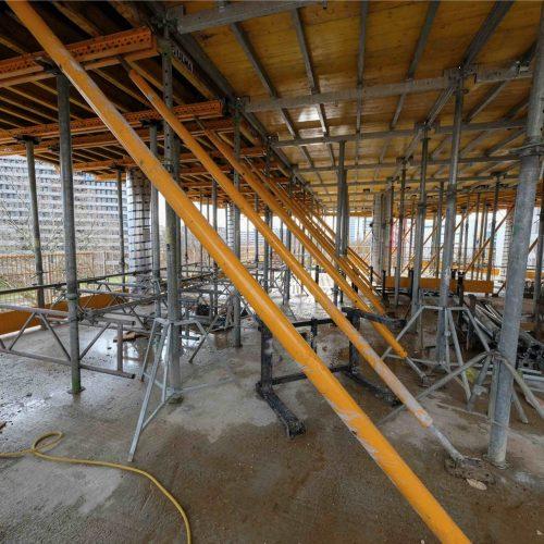 Für die Erstellung der aufwändigen Deckenkonstruktionen kamen unter anderem 750 m2 des neuen Deckensystems ONADEK sowie 600 qm MK-Deckentische zum Einsatz. Foto: ULMA Construction GmbH