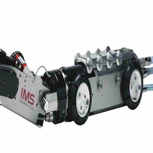 Mit dem Fräsroboter TURBO 4 lassen sich Hauptkanäle von DN 200 bis DN 800 problemlos reinigen, mit verschiedenen Aufsätzen sanieren und Zuläufe nach der Liner-Sanierung öffnen. Foto: IMS Robotics GmbH