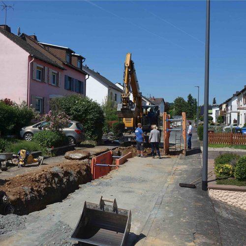 Bei der Erneuerung des Mischwasserkanals in Goethestraße in Bad Camberg hat sich der Auftraggeber für den Einsatz von FABEKUN®-Kanalrohren entschieden. Foto: Gebr. Fasel Betonwerk GmbH