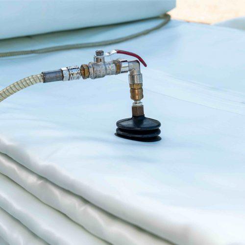 Die Imprägnierung des Schlauchliners erfolgt unter Vakuum. Foto. D&S Rohrsanierung